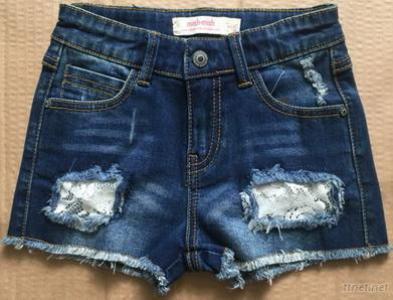 Female Children'S Wear Short Jeans