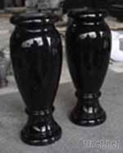 Shanxi Black Granite Polished Monumental Vases