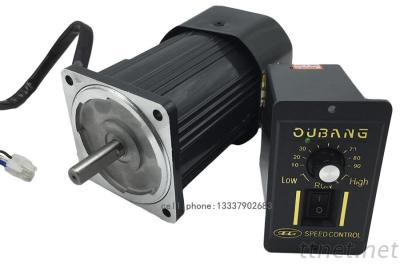 AC 220V 120W Optical Axis Deceleration Motor, 120W Geared AC Motor High Speed 1250rpm, Motor Governor Controller