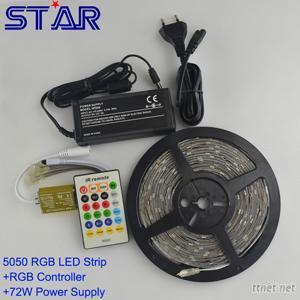 SMD5050 Christmas RGB LED Strip Ligth With 24/44Key Remote Controller 5V 2A Apdater