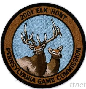 Embroidered Emblem-Hunting