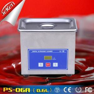 50W CE, RoHS Approval Digital Timer Hardware Parts & Jewelry Ultrasonic Cleaner 0.6L(Jeken PS-06A)