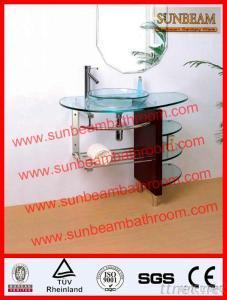 Glass Basin, Glass Vanity, Bathroom Sink