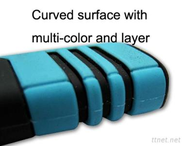 Multi-color silicone natural shaping product-Curved surface with multi-color and layer1