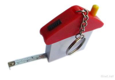 House Shaped Multi-Function Tape Measure With Key Ring