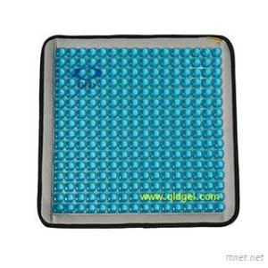 Blue Gel Car Seat Cushion, Backing Black 3D Mesh Fabric