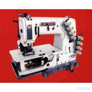 Chain stitch sewing machine for attaching waistbands
