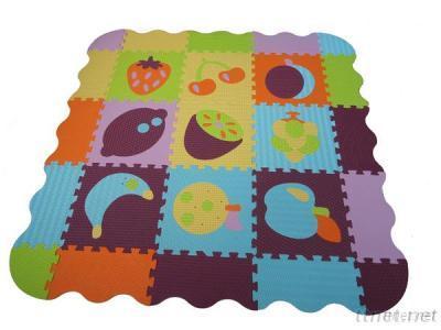 9 Pcs Newly Design Fruit Baby Foam Jigsaw Puzzle Mat