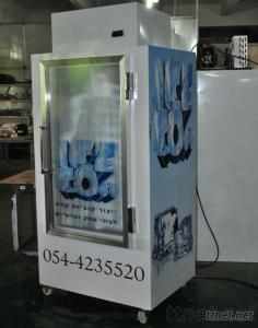 Gas Stataion Ice Storage Bin, Commercial Freezer