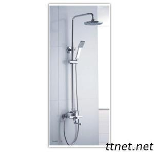 Elegant Chrome Finish Single Handle Brass High Shower Mixer