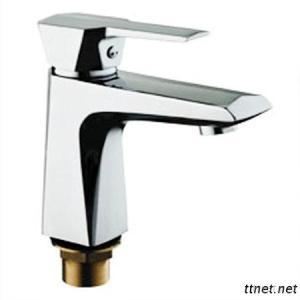 Elegant Chrome Finish Single Handle Brass Basin Faucet