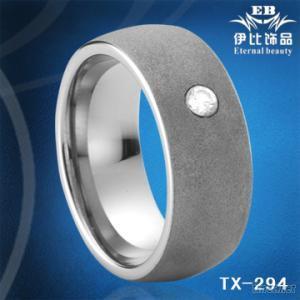 Diamond Wedding Tungsten Ring