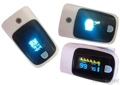 Finger Pulse Oximeter With Temperature Function