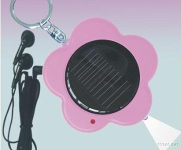 Multi Function Solar Radio Keychain