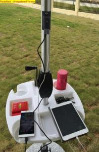 Solar Patio Umbrella With USB Mobile Phone Charger