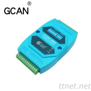 GCAN-4055 Industrial Grade 8-Channel CANopen IO Converter CANopen Digitial Input Output With The Standard CANopen Protocol