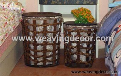 Eco-Friendly Handmade Storage Basket, Wicker Basket Storage Hamper