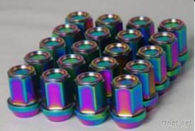 Titanium R40 Wheel Lug Nuts, Neo Chrome
