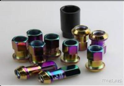 Titanium R40 Wheel Lug Nuts, Neo Chrome
