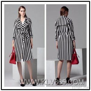 Women Fashion Clothing Autumn Winter Belted Long Coat