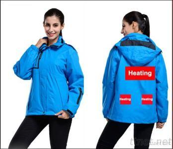 Winter Jacket With Battery Heating System Electric Heating Clothing Warm OUBOHK