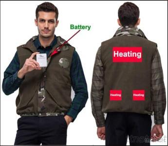 Vest With High-Tech Electric Heating System Battery Heated Clothing Warm OUBOHK