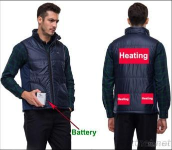 Vest For Men With High-Tech Electric Heating System Battery Heated Clothing Warm OUBOHK