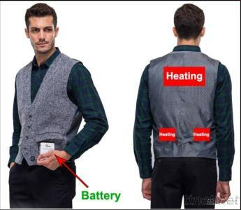 Vest, Garment With High-Tech Electric Heating System Battery Heated Clothing Warm OUBOHK