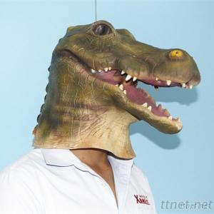 Crocodile Mask, Funny Look Animal Cosplay Halloween Makeup
