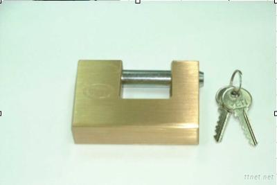 Solid Brass Square Block Padlock