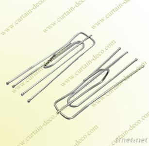 1.75Mm Galvanized Metal Curtain Pleat Hook A08