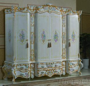 Classic Bedroom Furnitures - Luxury Hand Carved Wardrobe