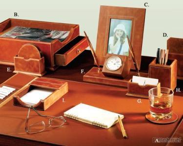 Active-Top Leather 9 - PC Desk Set