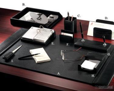 Chief's Leather 9 - PC Desk Set