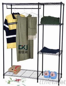 HKJ-B028 Steel Powder Coating Clothes Wardrobe Rack
