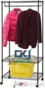HKJ-B025 Steel Powder Coating Clothes Wardrobe Rack