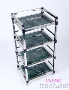 4 Layers 4C-B Tea Shelf Kitchen Shelves, Microwave Ovens Cabinet