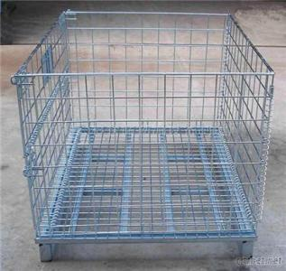 Folding Cage Steel Metal Storage Container