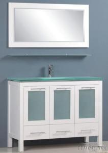 Rubber Solid Wood Modern Bathroom Cabinet Furniture