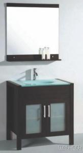 Oak Solid Wooden Bathroom Cabinet