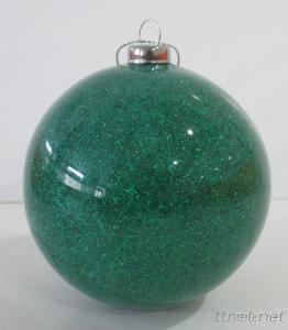 Red Flashing Plastic Christmas Decoration Ball