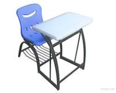 Combined Student Desks & Chairs (Sandblasted, Coated)