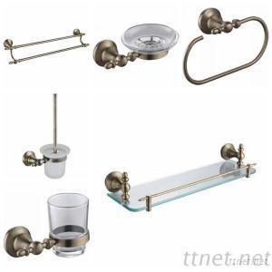 Jomola Bathroom Accessories ( Glass Cup, Towel Hook, Glass Shelf, Stool Brush)