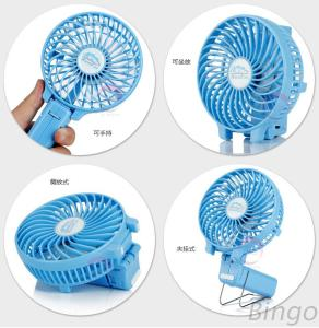 YL-T744 Newest Lithium Battery Handheld Portable Usb Mini Rechargeable Foldable Fan