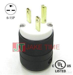NEMA 6-15P Straight Blade Plugs