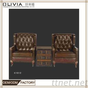 Classic Sofa Set, Leather Sofa, Sofa Bed