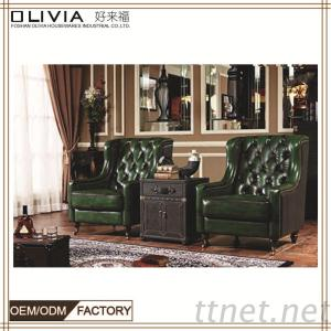 Cheers Leather Sofa, Recliner Gold Classic Sofa, Living Room Sofa