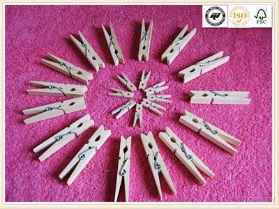 Wood Mini Clothespin