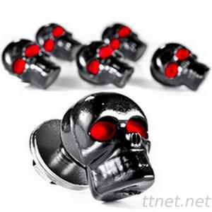4x Black Skull License Plate Frame Bolt Screw Fastener Cap Van Car Motorcycle