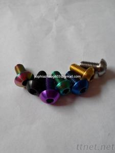 titanium mushroom head screw